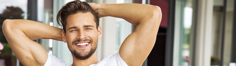 Mann volles Haar